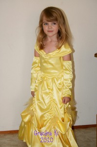 Amara in her Belle costume