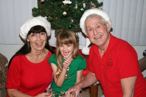 Amara gets the giggles during the Christmas photo