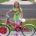 Amara and her new bike