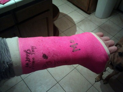 Jenna's Beautiful Pink Cast