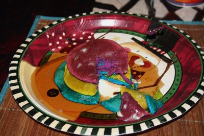 Look at the colors of our pancakes!