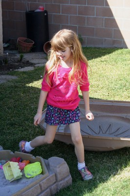 Amara and her Sandbox March 2010