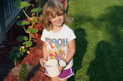 Amara the Gardener and her Pink Watering Can