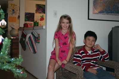 Amara and Fred Christmas 2011