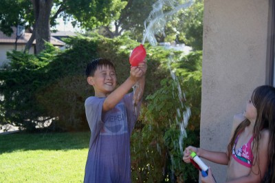 Fred, Amara and Water Balloons