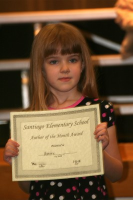 Amara and her Award for Author of the Month