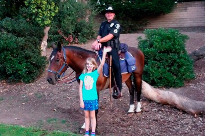 Amara and the mounted police