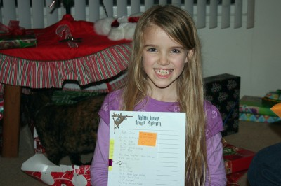 Amara and her Stationary - Christmas 2011