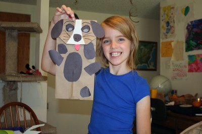 Puppy Puppet with spots