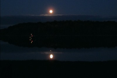 The Harvest Moon over Lime Lake
