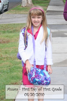 Amara's First Day of First Grade