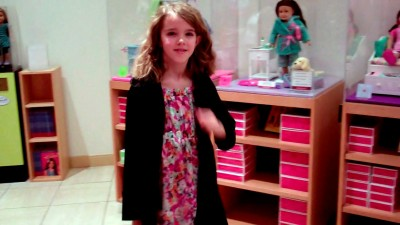 Amara give me a tour of the American Girl Store
