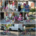 Amara and her new birthday bike