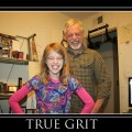 Amara and Grampy True Grit