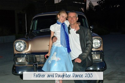 Amara and Daddy at the Father Daughter Dance