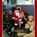 Amara with Santa at the Home Depot