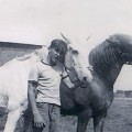 Daddy and his horses when he was about 17