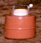 Old Round Thermos