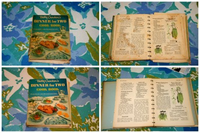 Collage of the 2 Betty Crocker's Dinner for Two Cook Book