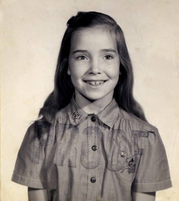 Kc in her Brownie uniform - age 7