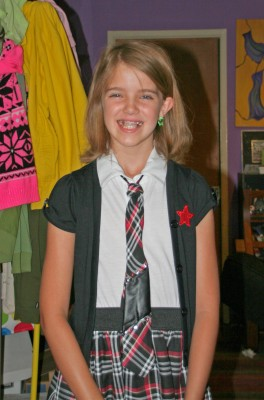 Amara all ready for her first day of 5th grade