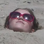 Amara Buried in the sand for the 3rd time that day