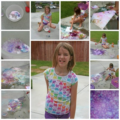 Collage of Amara and her Glitter Explosion