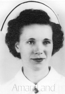 mom's nursing school graduation picture with her stripe on her cap
