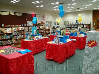 Dollar Book Fair after setup