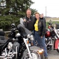 Sandy and Mark with their bikes