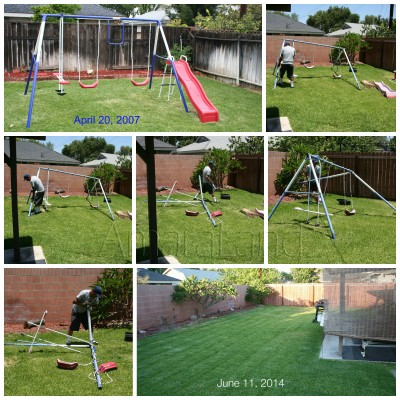 Swing set collage
