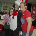 Amara, Grandma Kc as the Cat in the Hat and Jenna as Thing 2