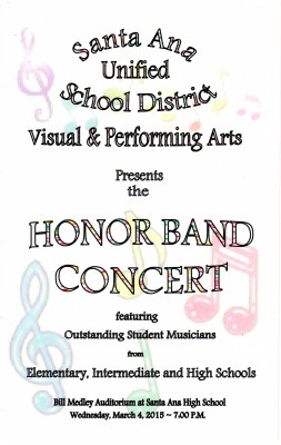 Santa Ana Honor Band Program
