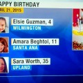 Amara on the Channel 7 News celebrating her 11th birthday