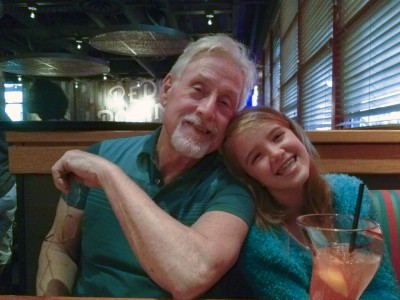 Amara and Grampy at Red Robin