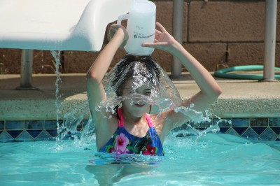 Amara dumping cold water on her head