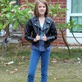 Amara on her first day of 6th grade