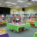 The Library Media Center ready for the Monster Book Fair