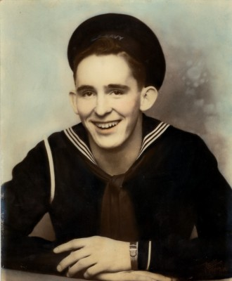 Glen in his Navy uniform
