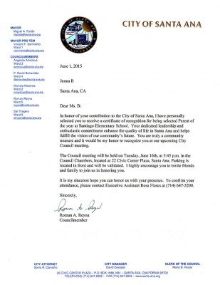 Letter from the City Council