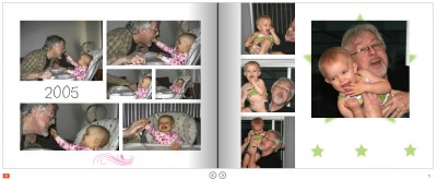 Pages from Amara and Grandpa's Book