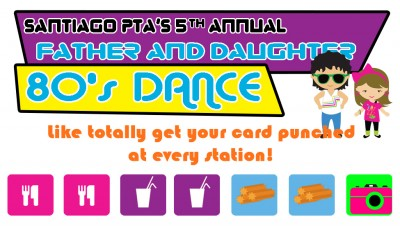 Ticket to the Father and Daughter 80s Dance